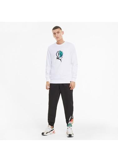 Puma Erkek Beyaz International Grap Sweatshirt 599801.002 Beyaz